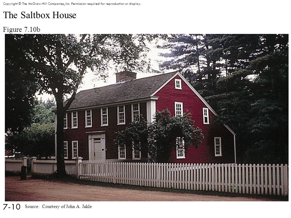 The Saltbox House Figure 7.10b 7-10 Copyright © The McGraw-Hill Companies, Inc.
