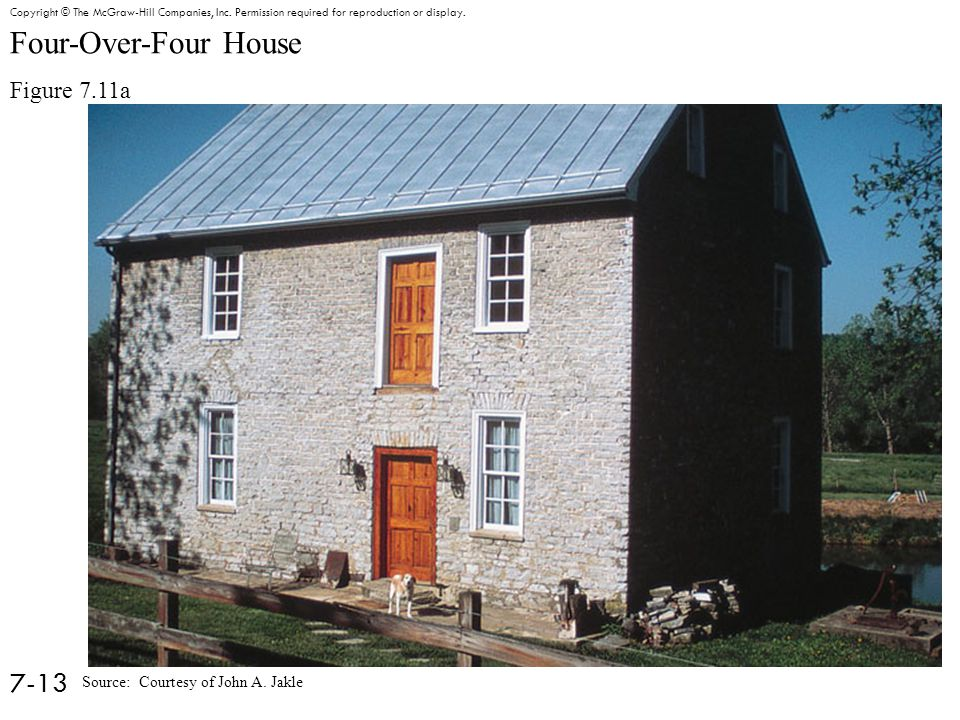 Four-Over-Four House Figure 7.11a 7-13 Copyright © The McGraw-Hill Companies, Inc.