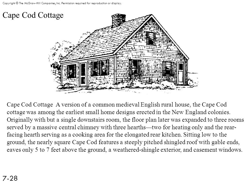 Cape Cod Cottage 7-28 Copyright © The McGraw-Hill Companies, Inc.