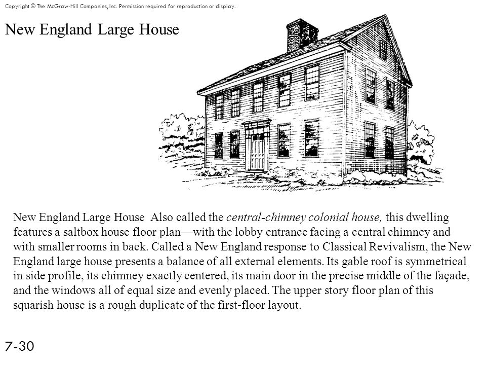 New England Large House 7-30 Copyright © The McGraw-Hill Companies, Inc.