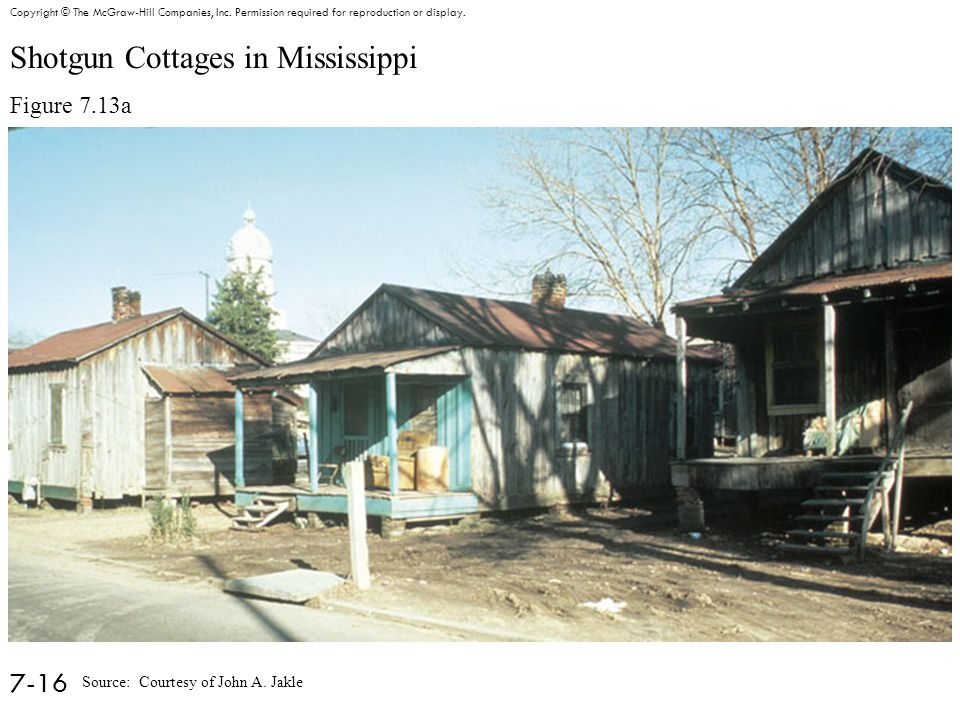 Shotgun Cottages in Mississippi Figure 7.13a 7-16 Copyright © The McGraw-Hill Companies, Inc.