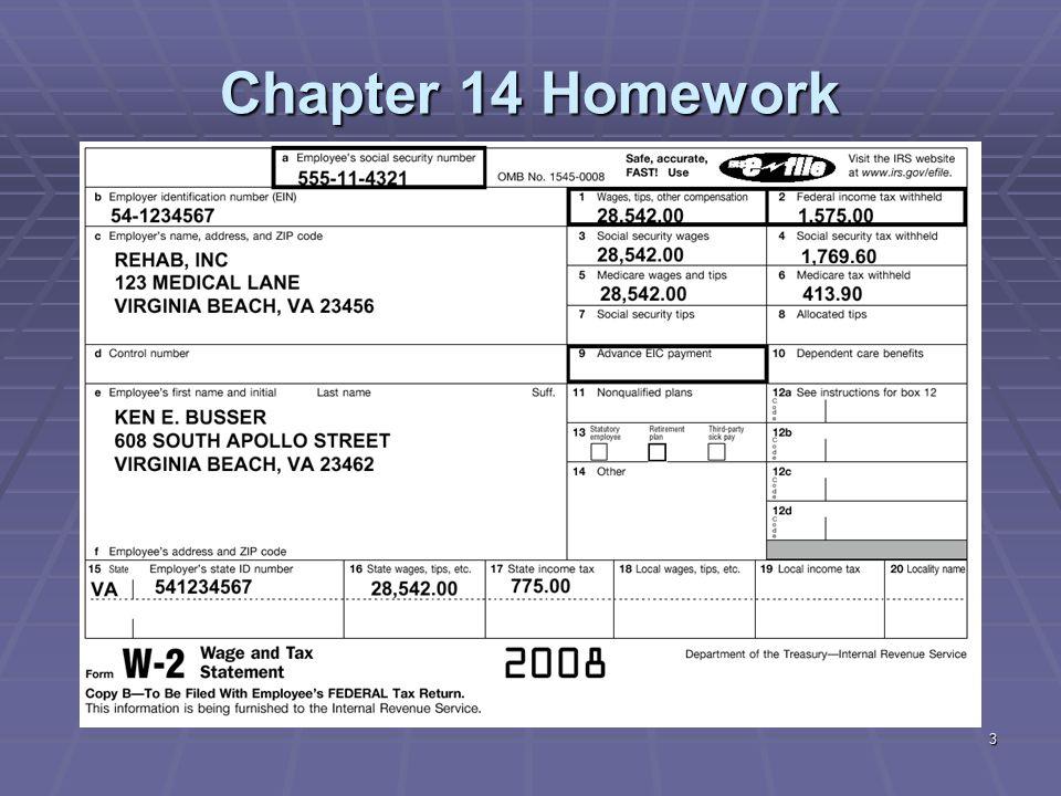 24 Chapter 14 Homework