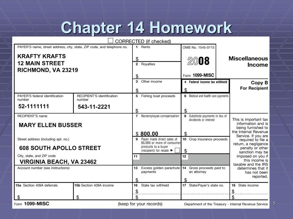 26 Chapter 14 Homework