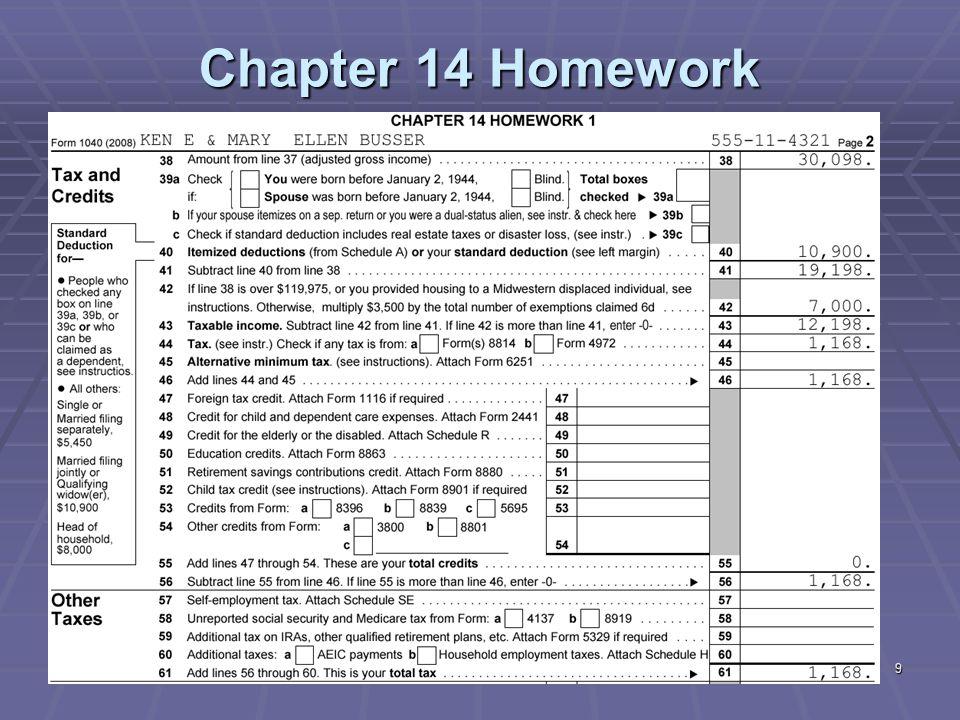10 Chapter 14 Homework