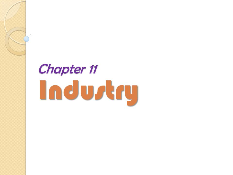 Chapter 11 Industry The End