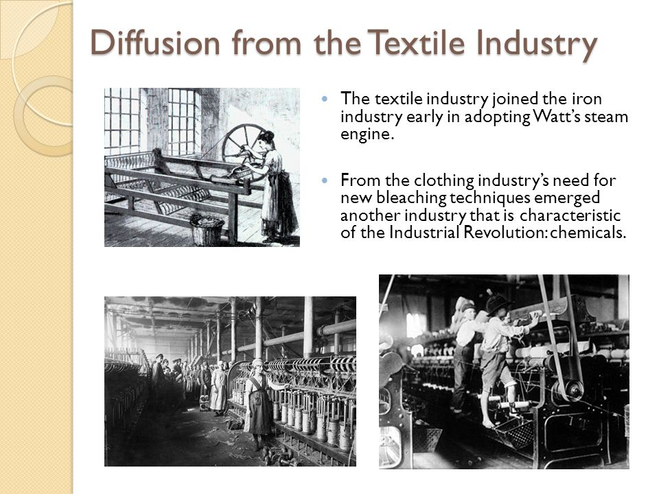 Diffusion to the United States Industry arrived a bit later in the United States than in Western Europe, but it spread much faster.