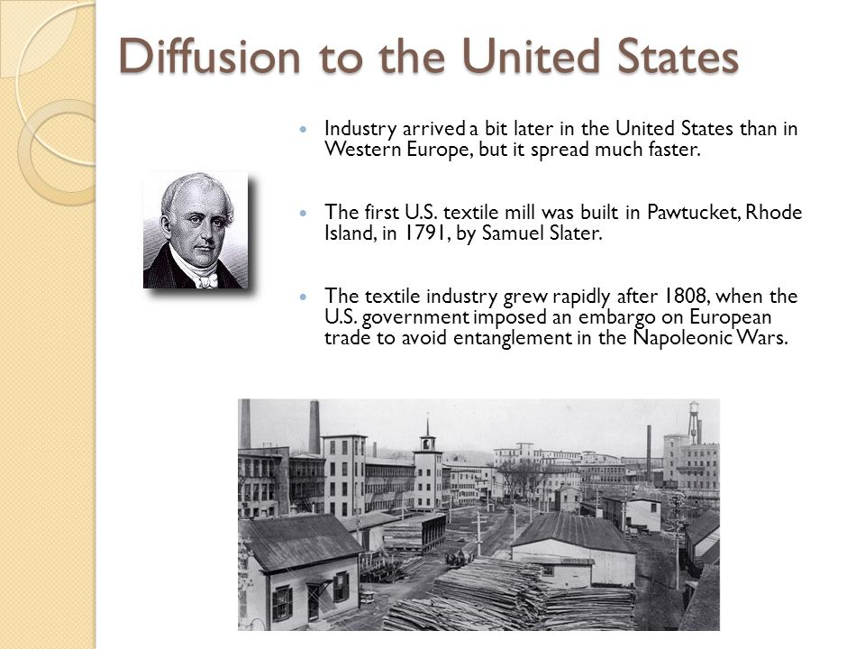 World Industrial Regions North America ◦ Industrialized areas in North America ◦ Changing distribution of U.S.