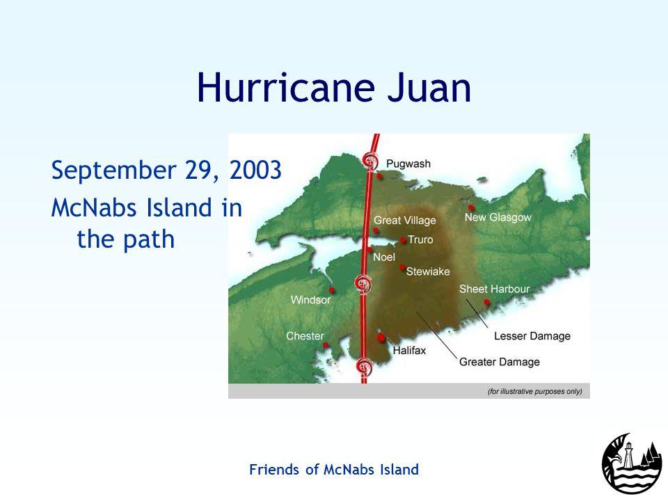Friends of McNabs Island Hurricane Juan September 29, 2003 McNabs Island in the path
