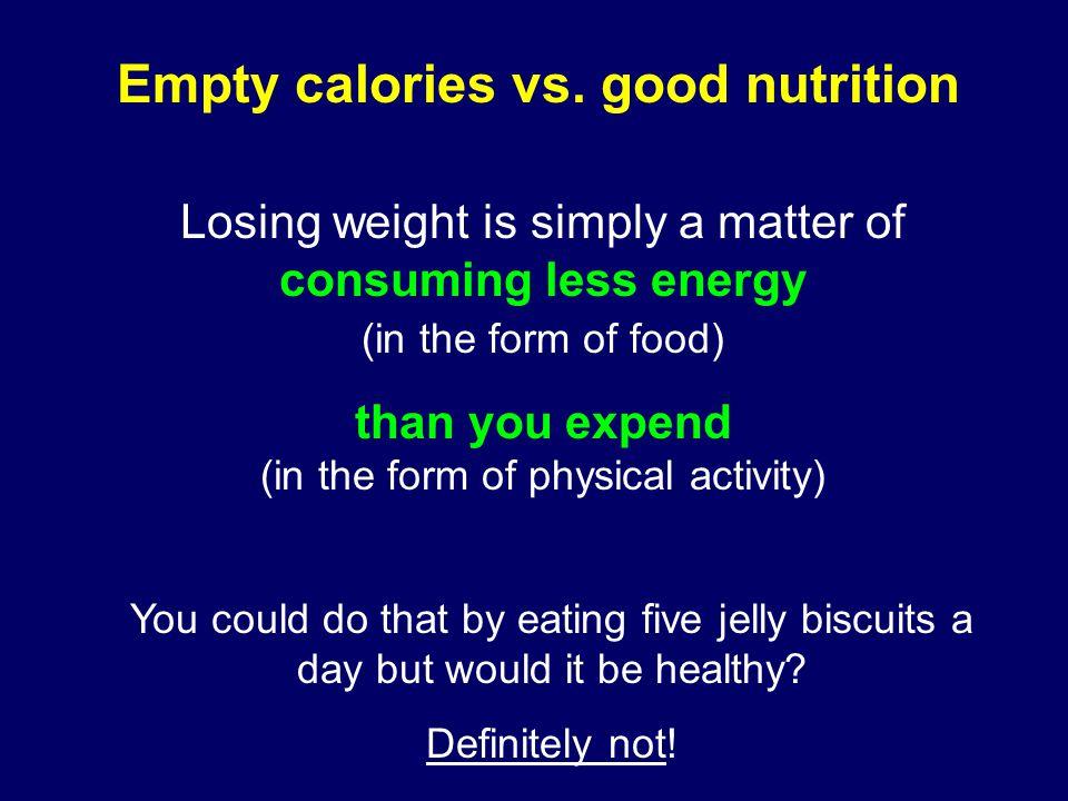 Empty calories vs.