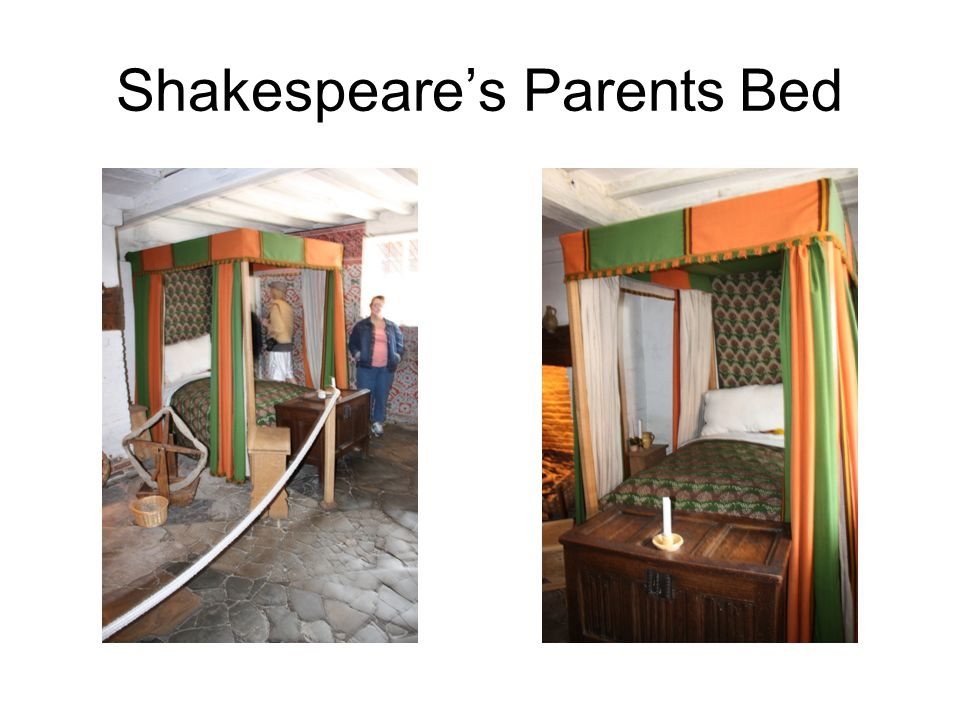 Shakespeare's Parents Bed