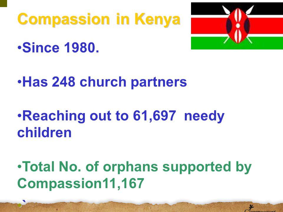 Where does compassion work in Kenya? work in Kenya?