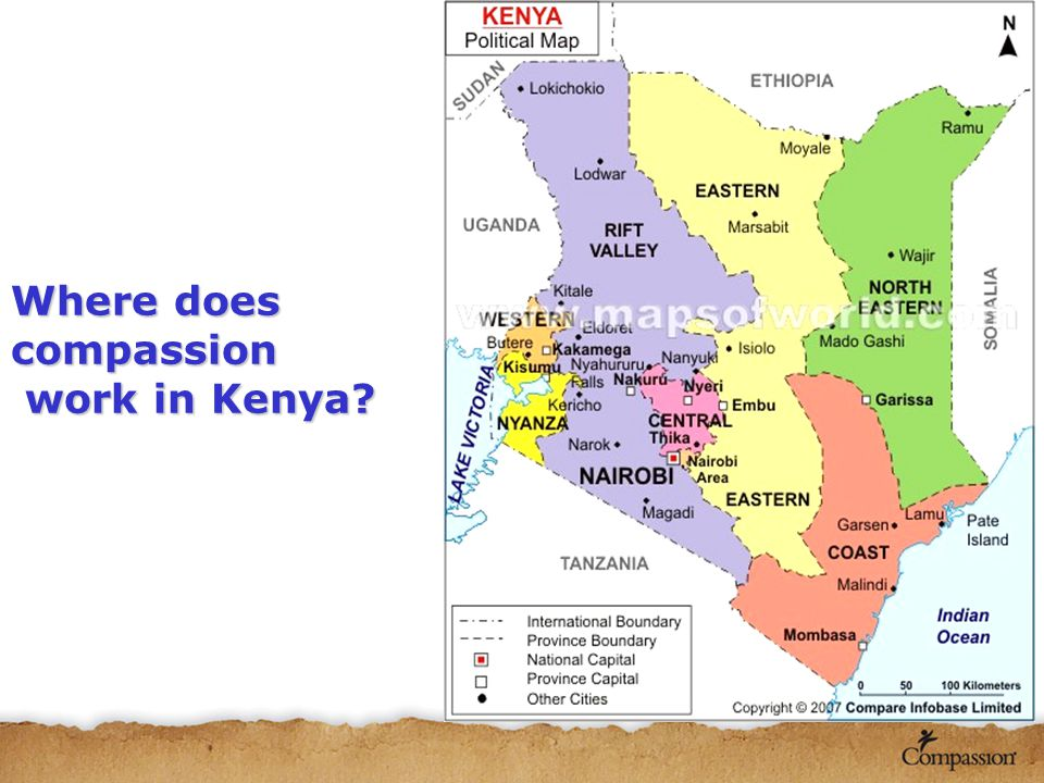 Where does compassion work in Kenya work in Kenya