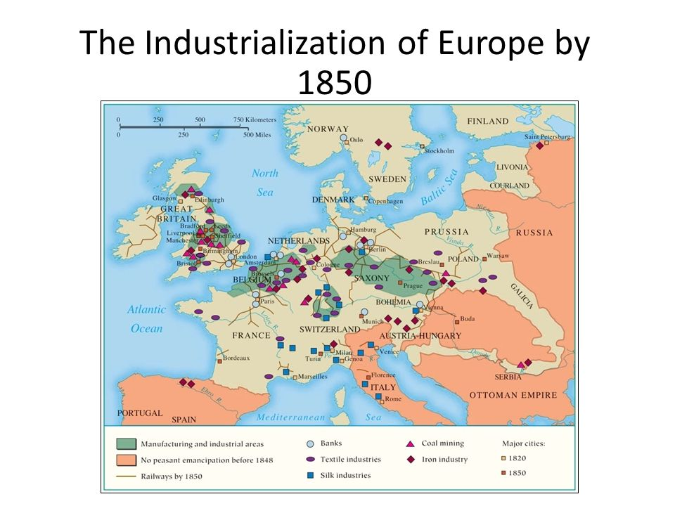 The Industrialization of Europe by 1850