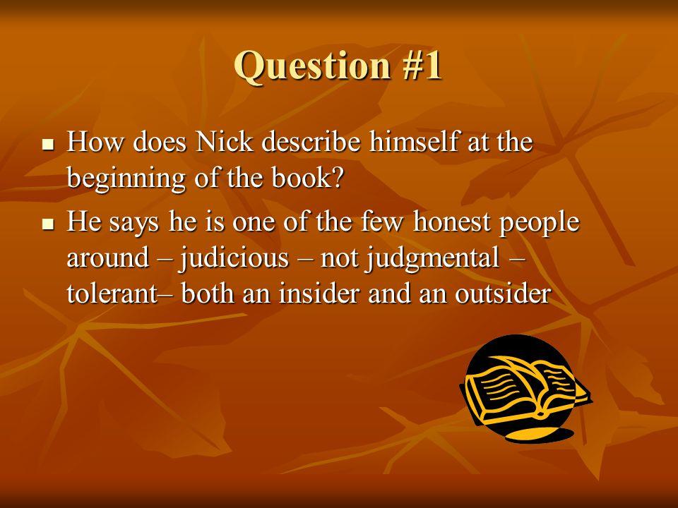 Question #2 Who is Jordan Baker.Who is Jordan Baker.
