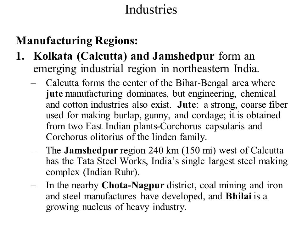 Secondary sector: At the time of independence (1947), Indian industries emphasized textiles and food processing. Gandhi championed development of the