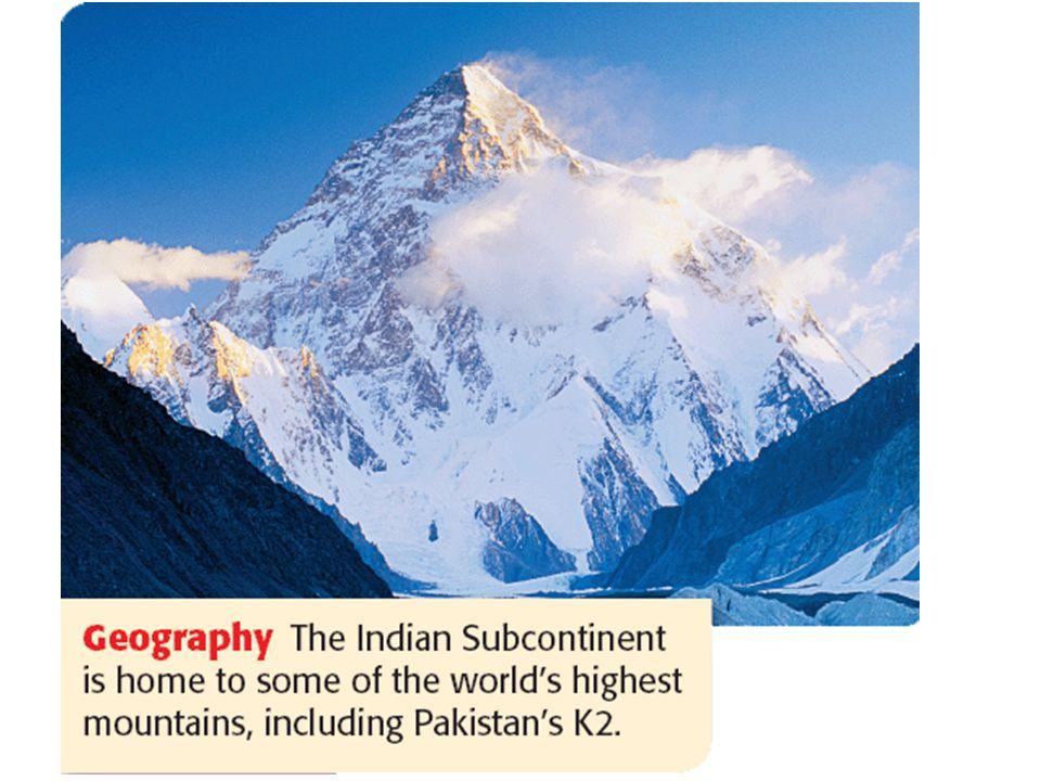 Mountains & Peaks Himalayas Mt. Everest ▲ Karakoran Mts. Hindu Kush Vindhya Hills Eastern Ghats Western Ghats Khyber Pass I I