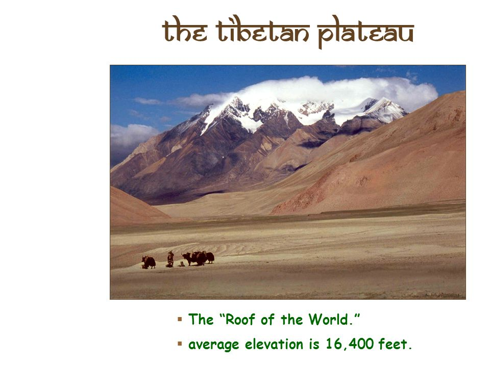 """The Deccan Plateau  31,800 square miles in size.  Elevation range: 2,000 – 8,000 feet high.  From the Sanskrit word, """"dakshina"""" [""""the south""""]."""