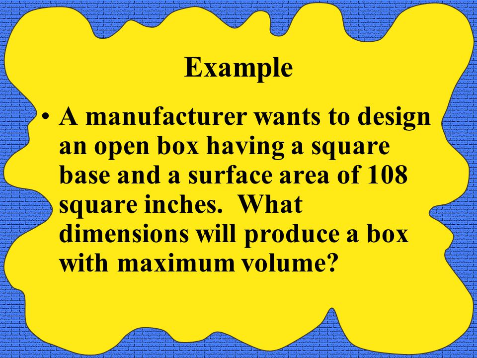 Example What is the radius of a cylindrical soda can with volume of 512 cubic inches that will use the minimum material?