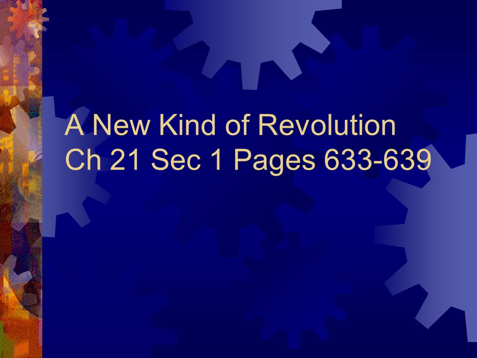 A couple of things to Answer  What were the causes of the Industrial Revolution.