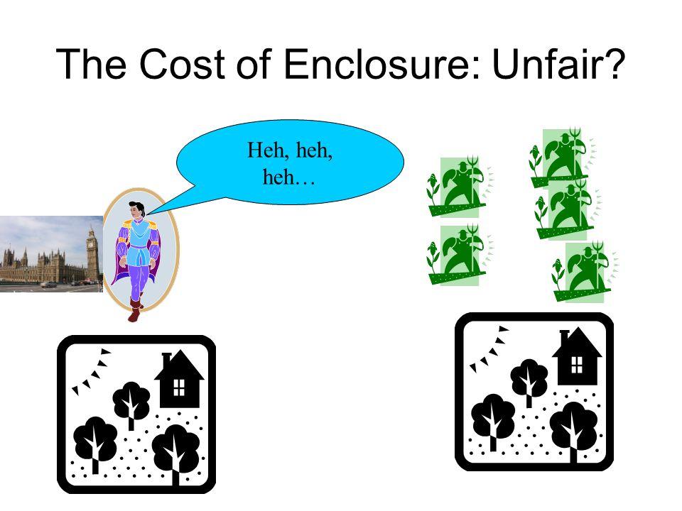 The Cost of Enclosure: Unfair Heh, heh, heh…