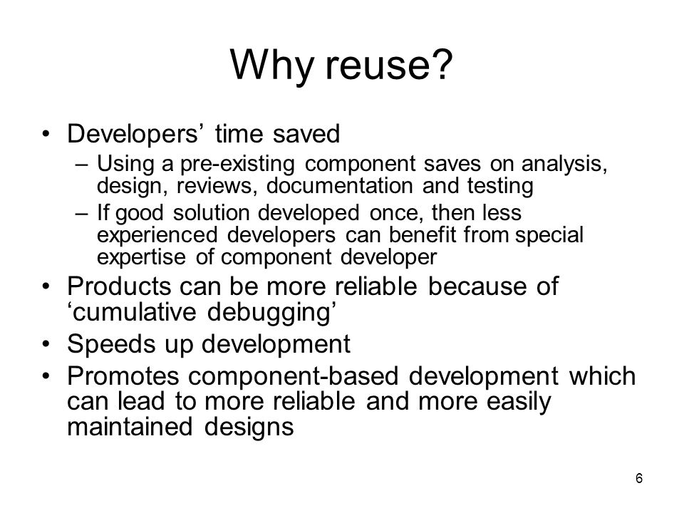 6 Why reuse.