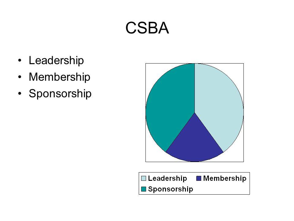CSBA Leadership Membership Sponsorship