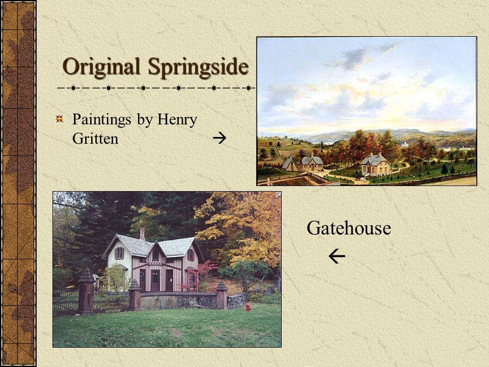 Original Springside Paintings by Henry Gritten  Gatehouse 