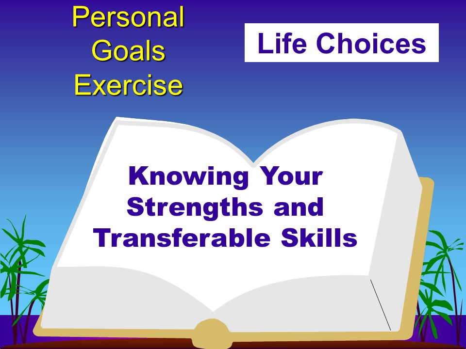 Personal Goals Exercise Life Choices Knowing Your Strengths and Transferable Skills