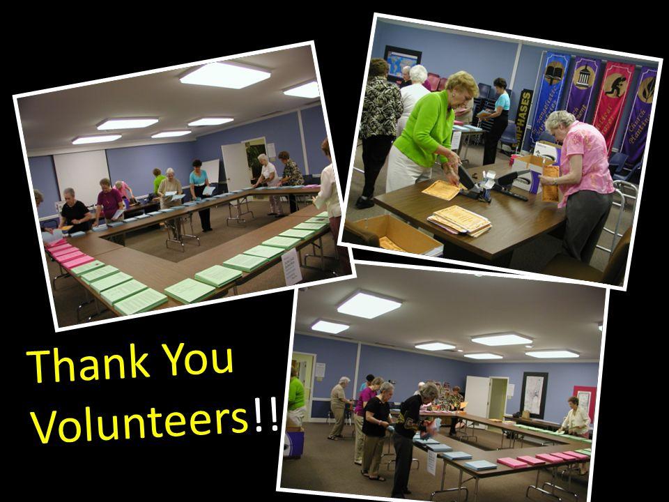Thank You Volunteers!!
