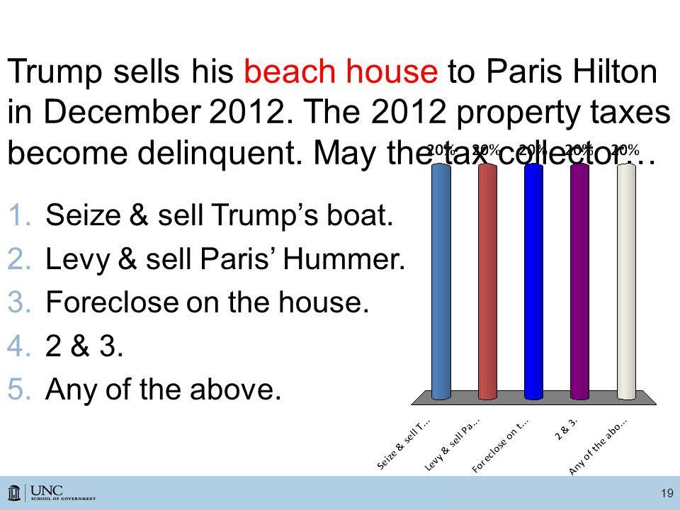 Trump sells his beach house to Paris Hilton in December 2012.
