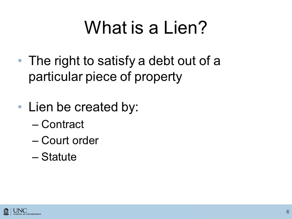 What is a Lien.