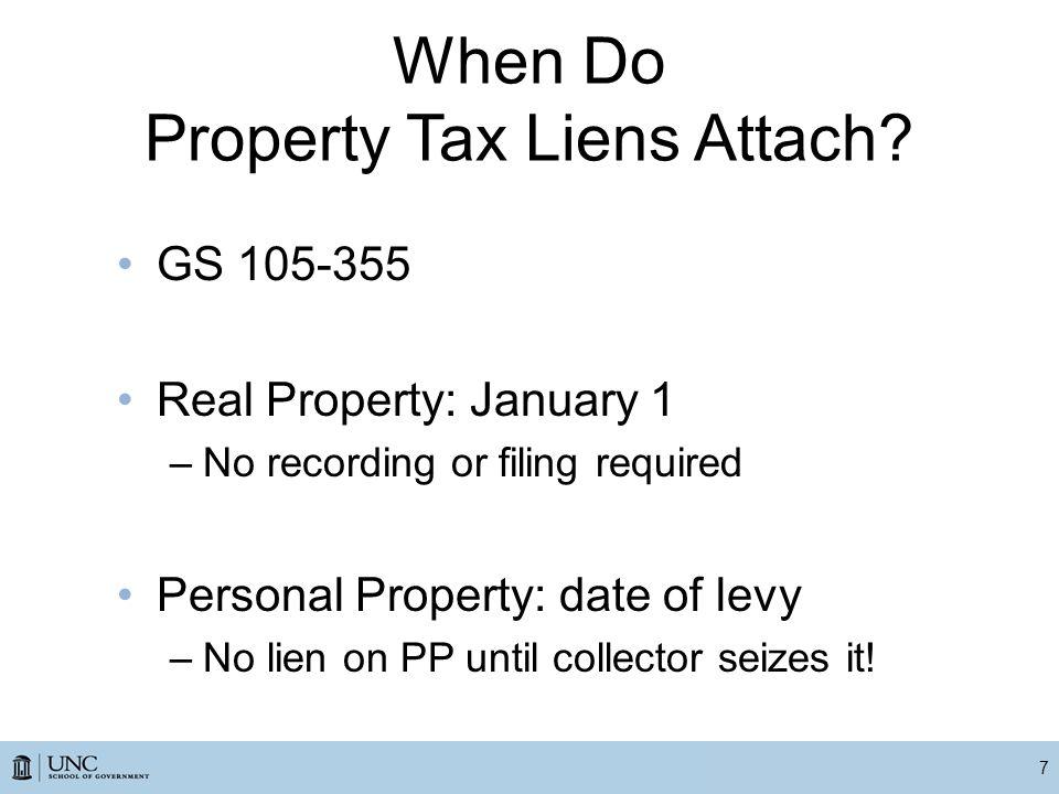 When Do Property Tax Liens Attach.