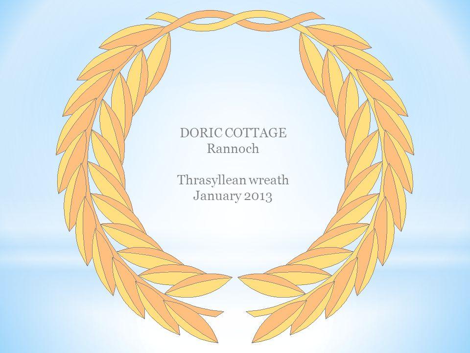 DORIC COTTAGE Rannoch Thrasyllean wreath January 2013