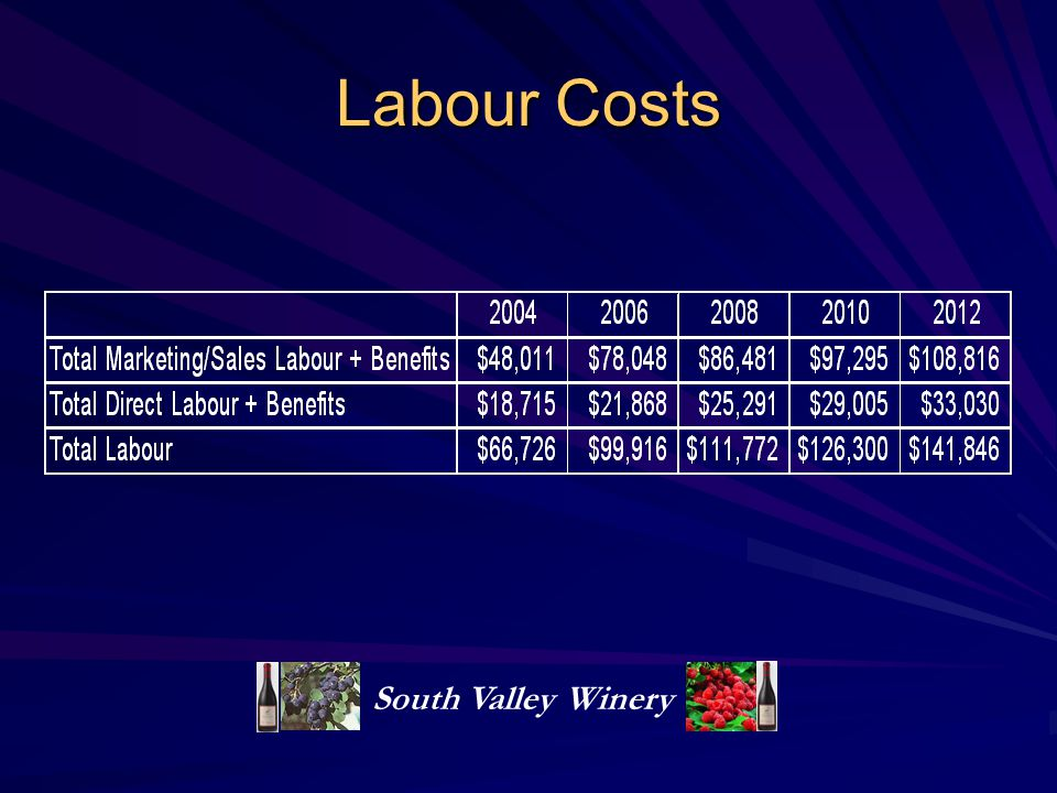 Labour Costs South Valley Winery