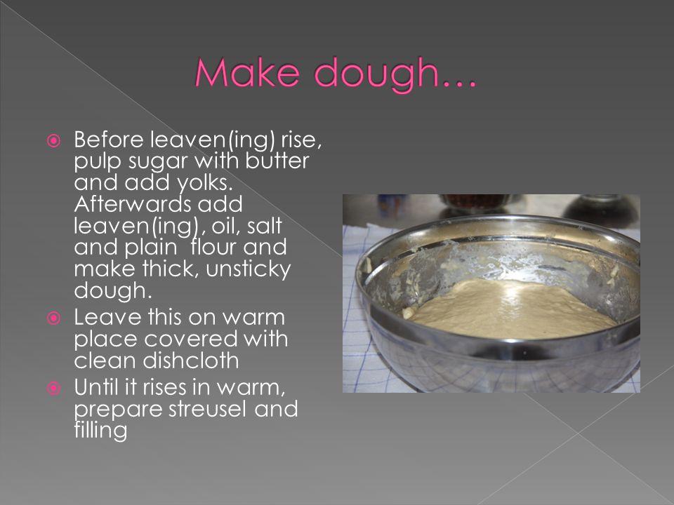  200g butter or vegetable fat (Hera)  200g meal  150g confectioner`s sugar › Mix it together