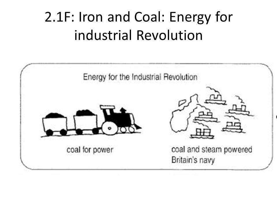 2.1F: Iron and Coal: Energy for industrial Revolution