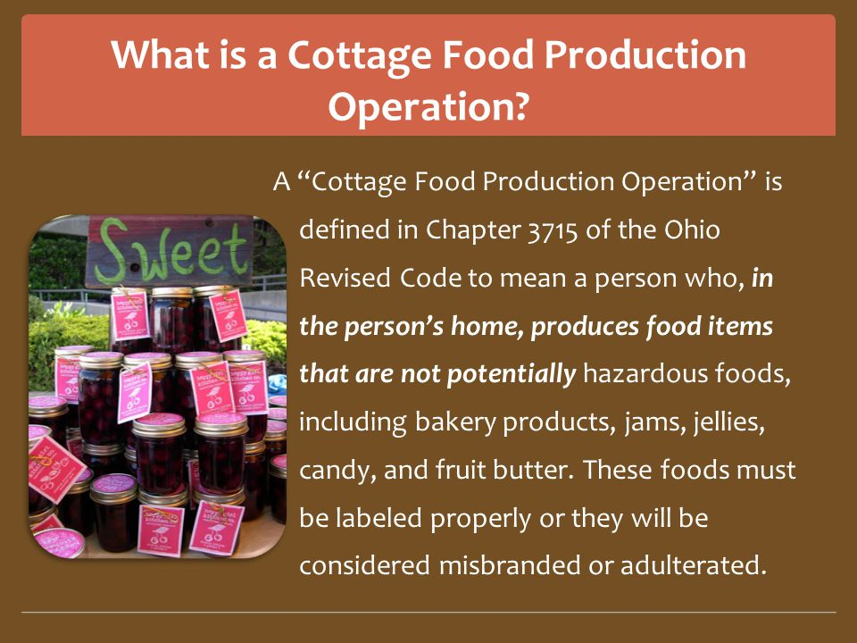 What is a Cottage Food Production Operation.