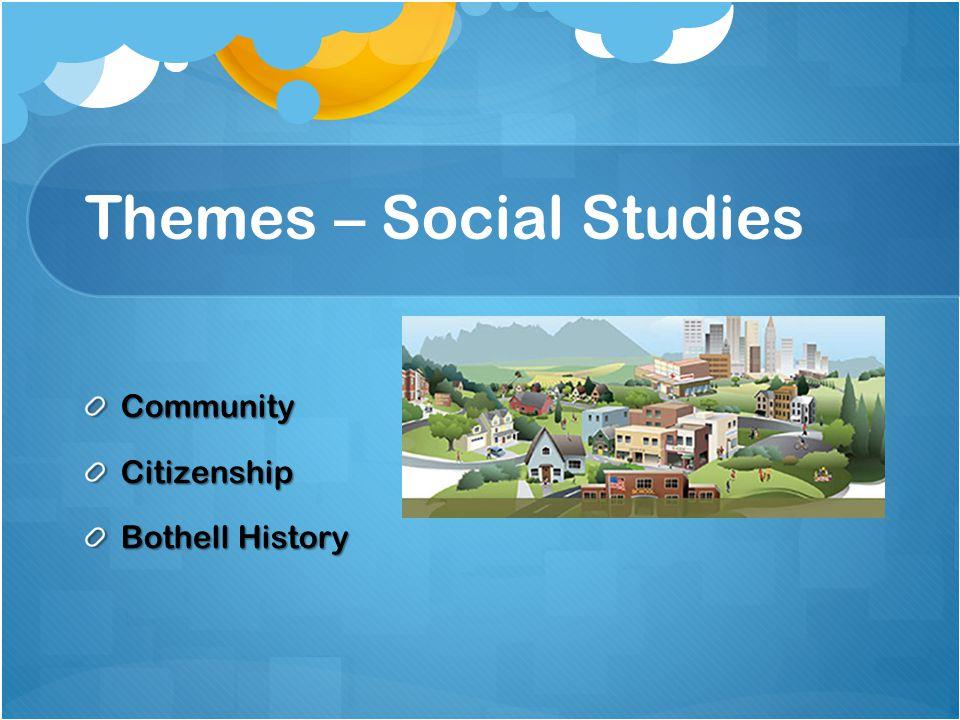 Themes – Social Studies CommunityCitizenship Bothell History