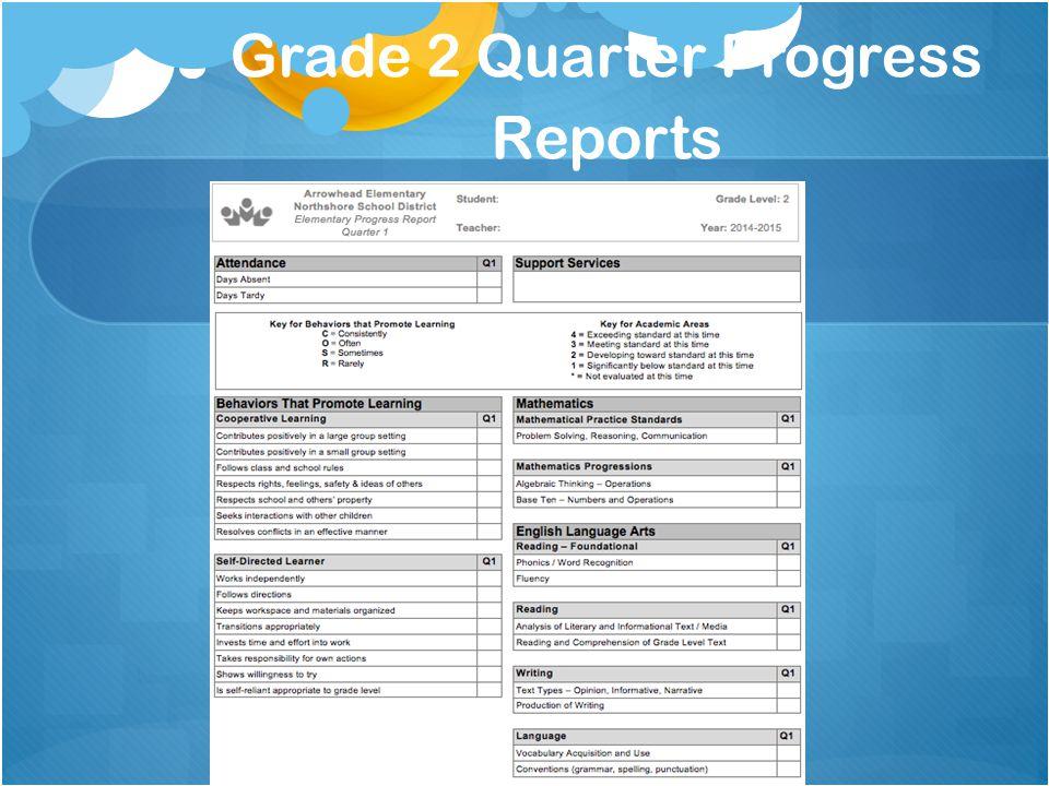 Grade 2 Quarter Progress Reports