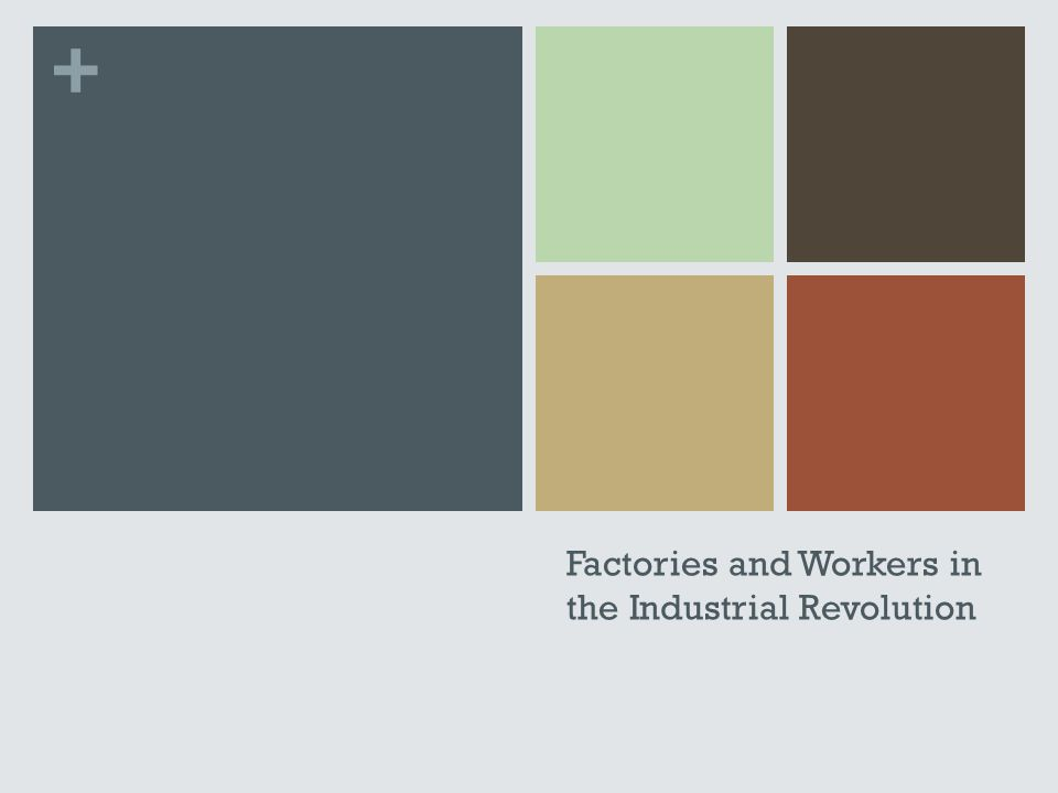 + Factories and Workers in the Industrial Revolution