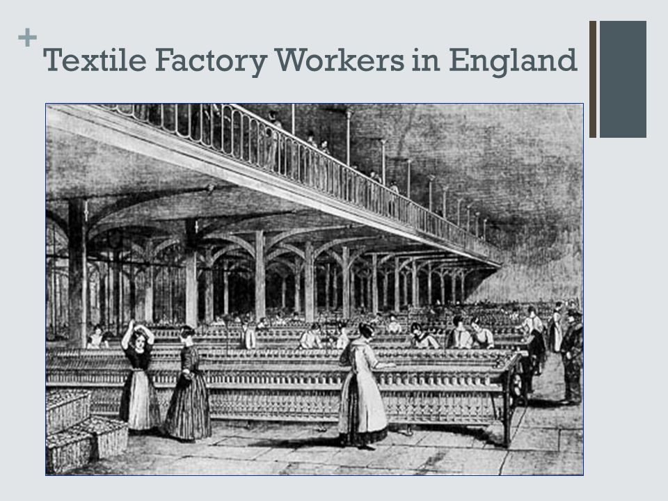 + Textile Factory Workers in England
