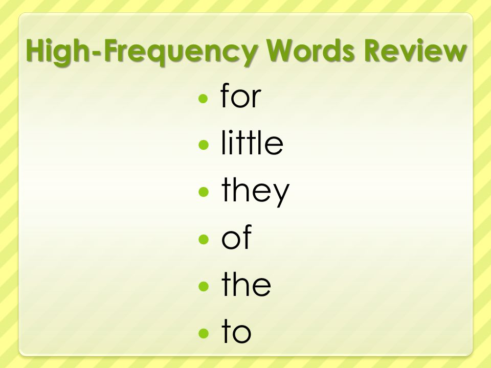 High-Frequency Words Review for little they of the to