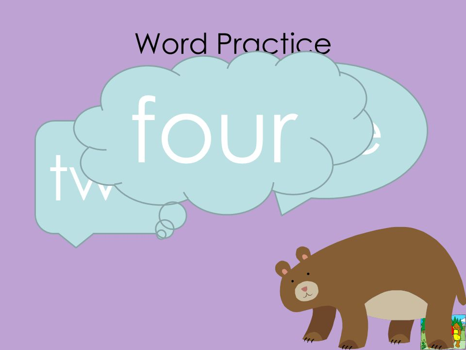 Word Practice two one four