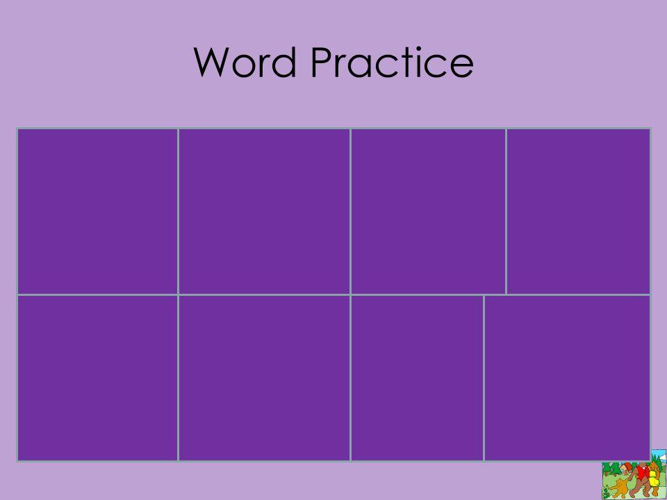 Word Practice flopspinslamdrop plopstoplandjump