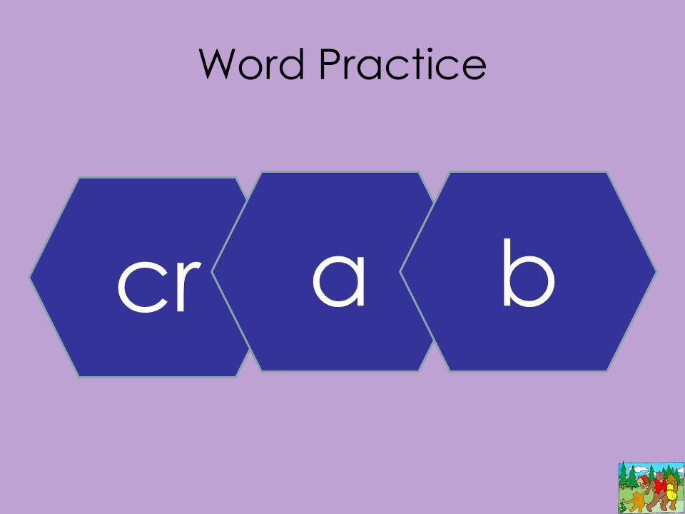 Word Practice cr ab