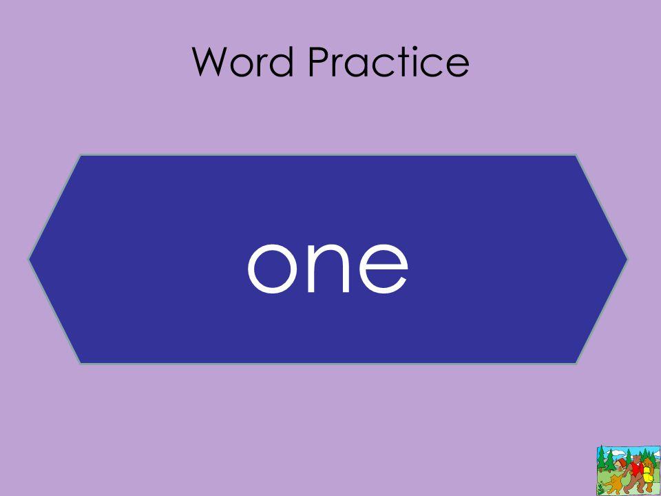 Word Practice one