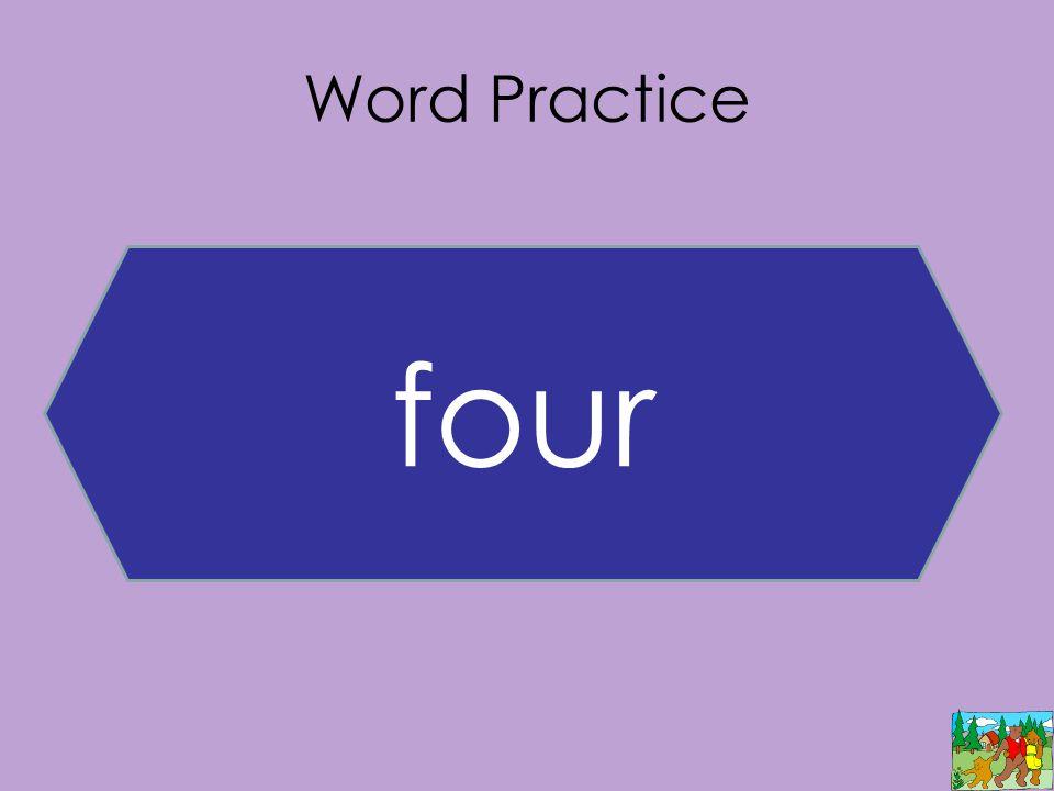 Word Practice four