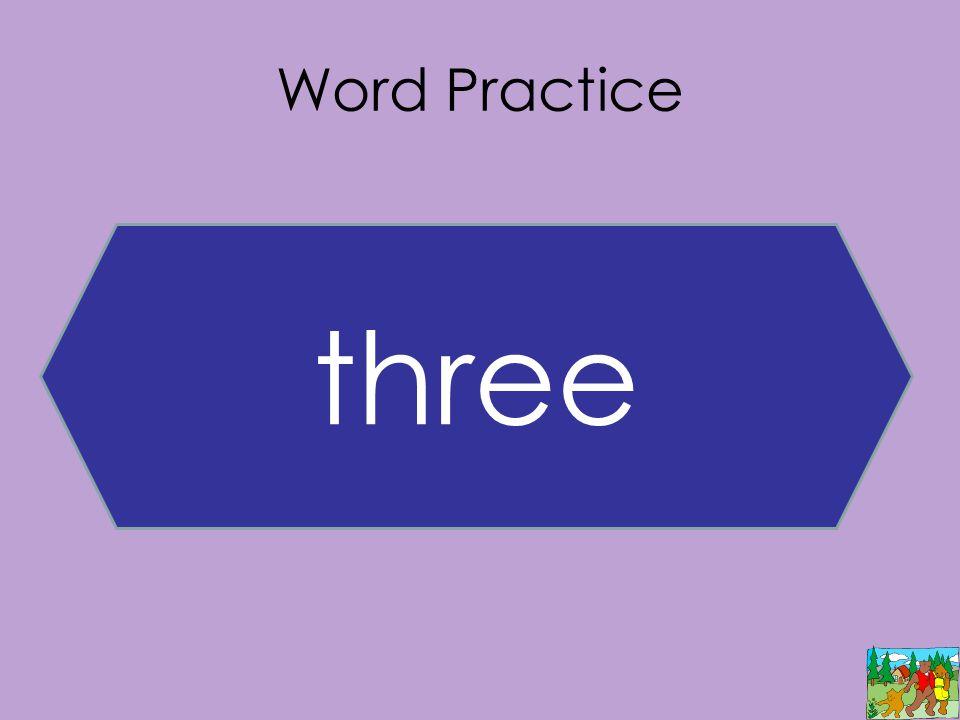 Word Practice three