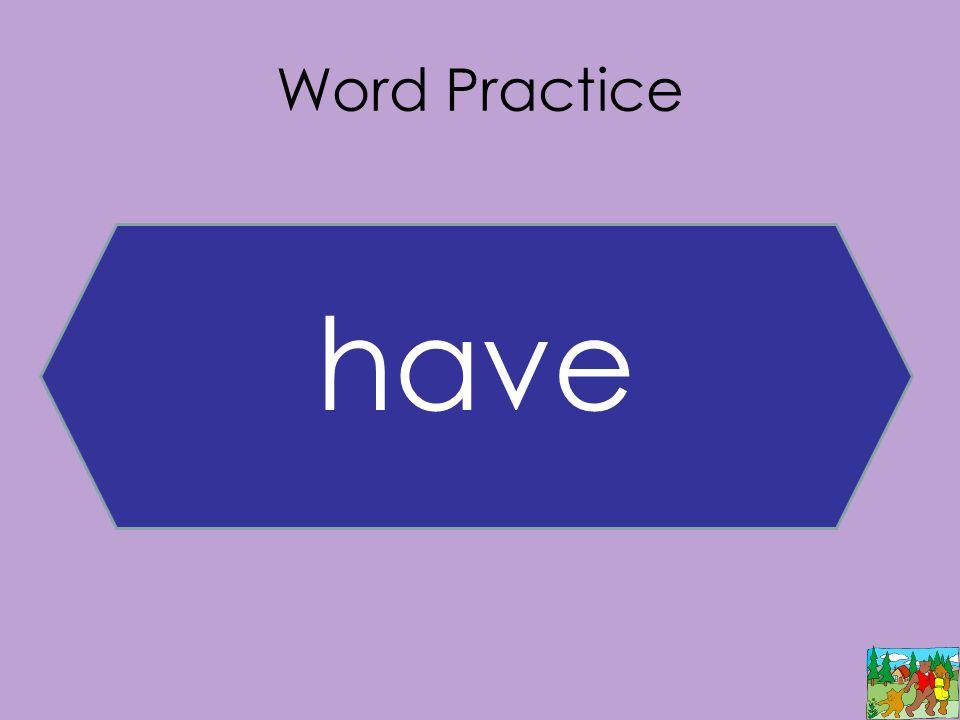 Word Practice have