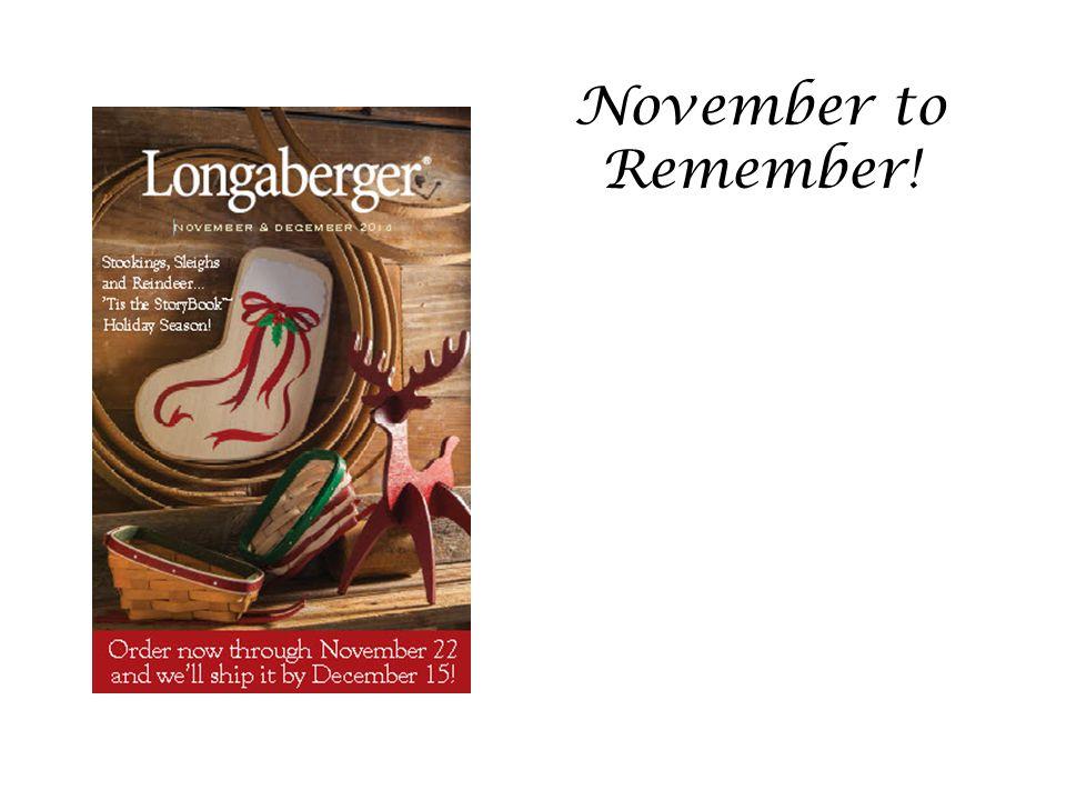 November to Remember!